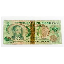 Philippines Ang Bagong Lipunan 5 Piso Banknote