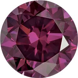 Natural African Rich Purple Diamond - Round Cut -