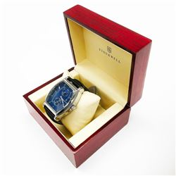 Men's Stockwell MOON PHASE Automatic Watch With Genuine Leather Strap & Gift Box