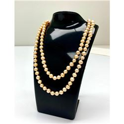 Ladies Akoya Pearl Rope Style Necklace
