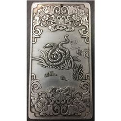 Tibetan Silver Bullion with Snake
