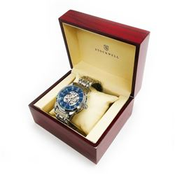 Men's Stockwell SKELETON Automatic Watch With Genuine Stainless Steel Locking Clasp & Gift Box