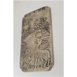 Asian Tibetan Silver Fawn Bullion Bar