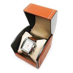 Mens L.A Banus Chronograph Quicksilver Finish Genuine Leather Band Watch