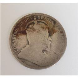 Edward VII Canadian 25 Cents