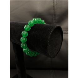 This Beautifully Crafted Asian Green Jade Beaded Bracelet