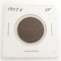 1907H One Cent Coin