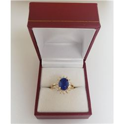 Ladies Stunning 1.79 ct Blue Lapis Lazuli Gemstone Ring