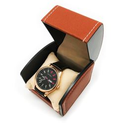 Mens L.A Banus Rose Gold Matte Finish Genuine Leather Band