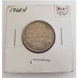 1902-H Canadian 25 Cents