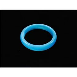 Chinese Blue Jade Carved Bangle