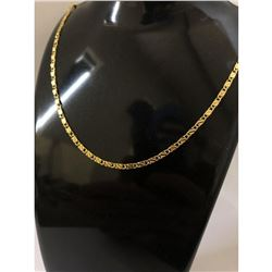 18K Yellow Gold Plated Necklace With Unique Link