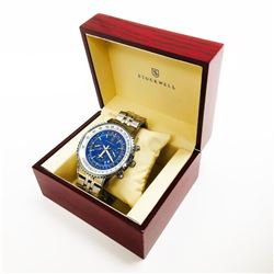 Men's Stockwell Automatic FLIGHT Watch With Genuine Stainless Steel Locking Clasp Strap & Gift Box