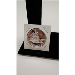 Commemorative Sterling Silver .999 Voyage of Juan Perez Silver Dollar