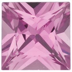 AAA+ Grade EXTRA Fine Natural SRI LANKA Square PRINCESS PINK Sapphire