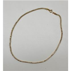 "18"" Gold Plated & Crystal Mounted Ladies Necklace"