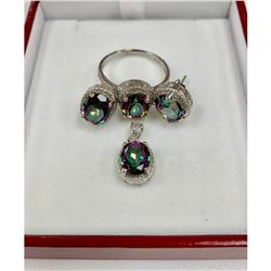 Prismatic Ladies 3.89 Carat Topaz Stones with 925 Sterling Silver Mounts