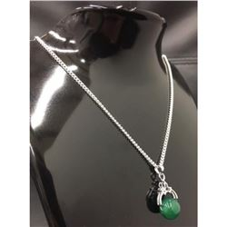 Sterling Silver 925 Necklace With Jade Pendant