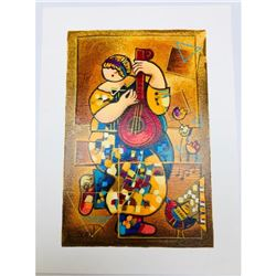 Dorit Levi 'Banjo Song' Limited Edition Serigraph 51/60 Hand Signed Painting Letter Of Authenticity