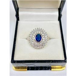 Elegant Ladies Size 7 0.68ct Kyanite Sterling Silver Set Ring