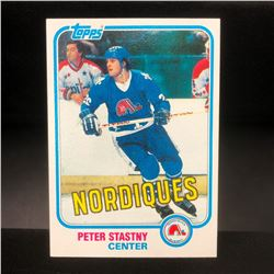 Vintage 1981 Peter Stastny Rookie Card