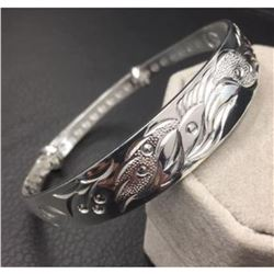 Dragon & Phoenix Fine Jewelry 925 Silver Bangle