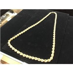 10k Yellow Gold Custom Designed Rope Chain Weight 40.5 Grams