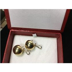 Pair of Ladies 14K Yellow Gold Vintage Full Moon Earrings