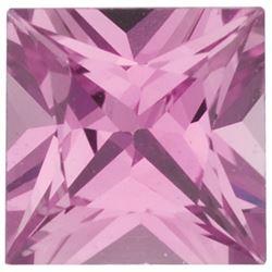 AAA+ Grade EXTRA Fine Natural SRI LANKA Square PRINCESS PINK Sapphire