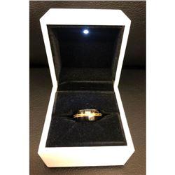 Ladies Titanium Black And Gold Engagement Ring