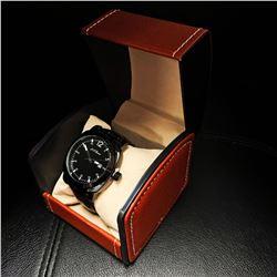 Mens L.A. Banus Midnight Black Chronograph Designer Watch