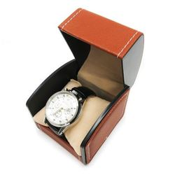 Mens L.A Banus Chronograph Metallic Stainless Steel Genuine Leather Band Watch