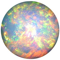 AAA+ Grade Natural Fine Fire Opal - Round Cabochon - Ethiopia Mined