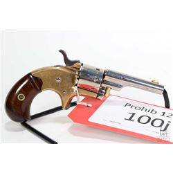 Prohib 12-6 handgun Colt model 1871 Open Top Pocket, .22 S, L seven shot single action revolver, w/