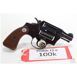 Prohib 12-6 handgun Colt model Detective Special, .38 Special six shot double action revolver, w/ bb