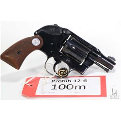Prohib 12-6 handgun Colt model Agent (1958), .38 Special six shot double action revolver, w/ bbl len