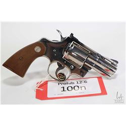Prohib 12-6 handgun Colt model Python (1973), .357 Magnum six shot double action revolver, w/ bbl le