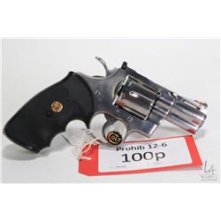 Prohib 12-6 handgun Colt model Python (1989), ,357 Magnum six shot double action revolver, w/ bbl le