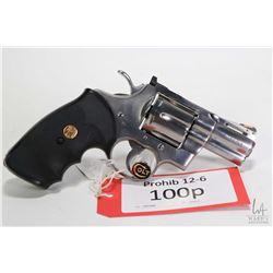 Prohib 12-6 handgun Colt model Python (1989), ,357 Magnum six shot double action revolver, w/ bbl le