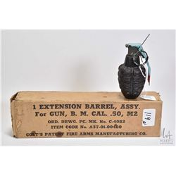 "Boxed ""1 Extension Barrel, ASSY for Gun, B.M.Cal.50, M2 by Colt's Patent Fire Arms Manufacturing Co."