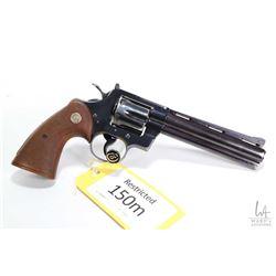 Restricted handgun Colt model Python (1955), .357 mag six shot double action revolver, w/ bbl length