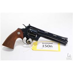 Restricted handgun Colt model Python (1956), .357 mag six shot double action revolver, w/ bbl length