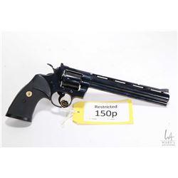 Restricted handgun Colt model Python Silhouette (1974), .357 Mag six shot double action revolver, w/