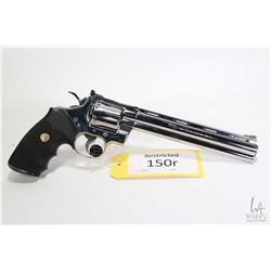 Restricted handgun Colt model Python (1991), . 357 Magnum six shot double action revolver, w/ bbl le