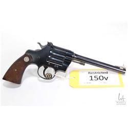 Restricted handgun Colt model Camp Perry (1936), .22 LR single shot single action, w/ bbl length 203