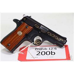 Prohib 12-6 handgun Colt model Gov't Series 80 Lady Colt, .380 auto seven shot semi automatic, w/ bb