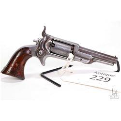 Antique handgun Colt model Root 1855 Sidehammer Pckt, .28 five shot single action revolver, w/ bbl l