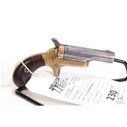 Antique handgun Colt model 3rd model Derringer, .41 rimfire single shot single action, w/ bbl length