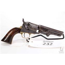 Antique handgun Colt model 1849 Pocket, .31 Percussion five shot single action revolver, w/ bbl leng