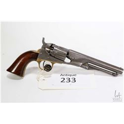 Antique handgun Colt model 1862 Police ( dated 1865), .36 Percussion five shot single action revolve